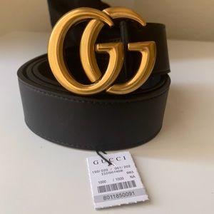 bNew Gucci Belt Äüthentïć Double G Marmot